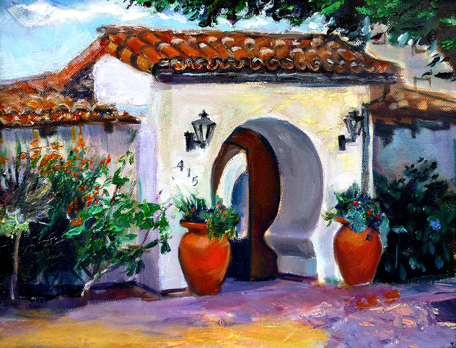 Cityscape Painting - Key Hole Archway 415 by Renuka Pillai