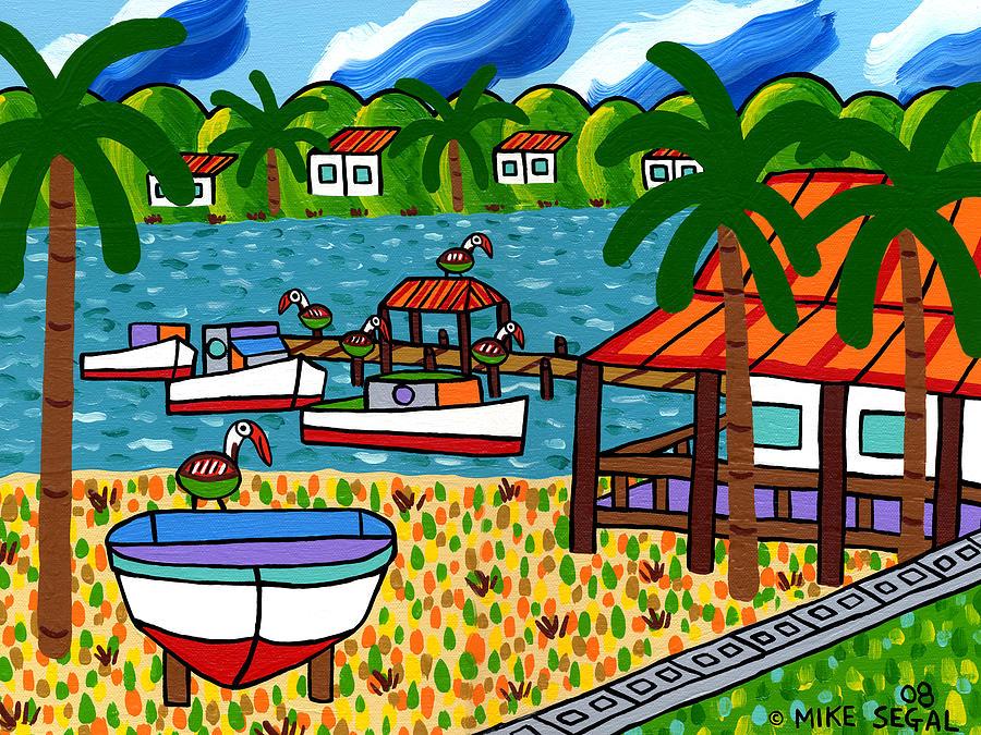 Cedar Key Painting - Key Motel-Cedar Key by Mike Segal