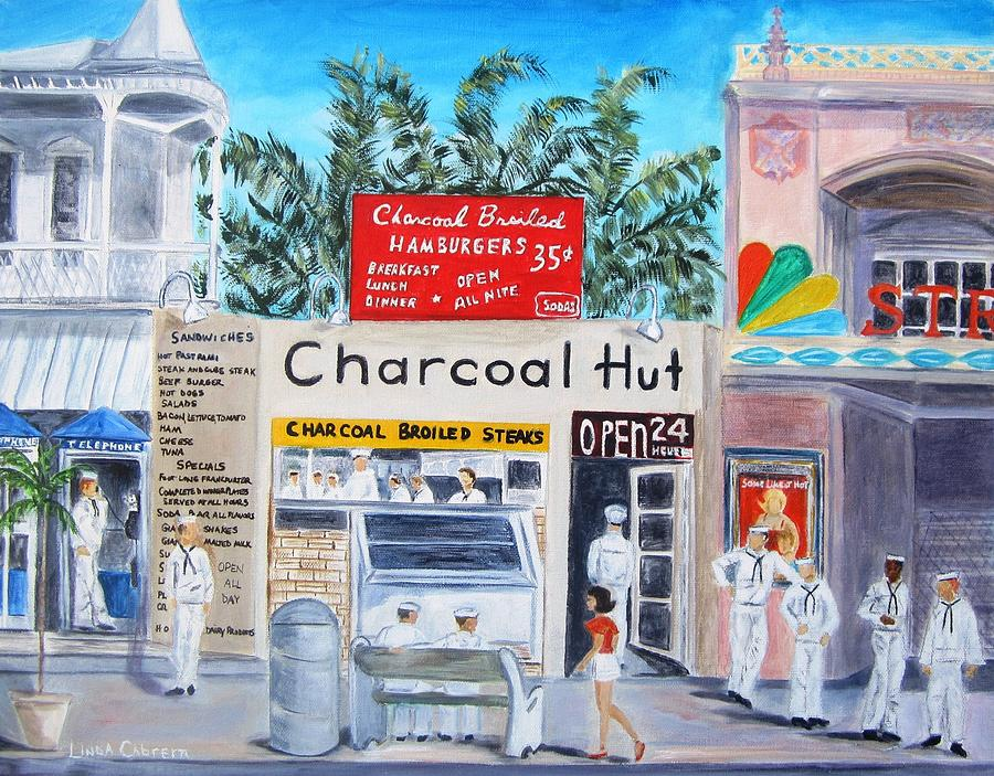 Key West Charcoal Hut by Linda Cabrera