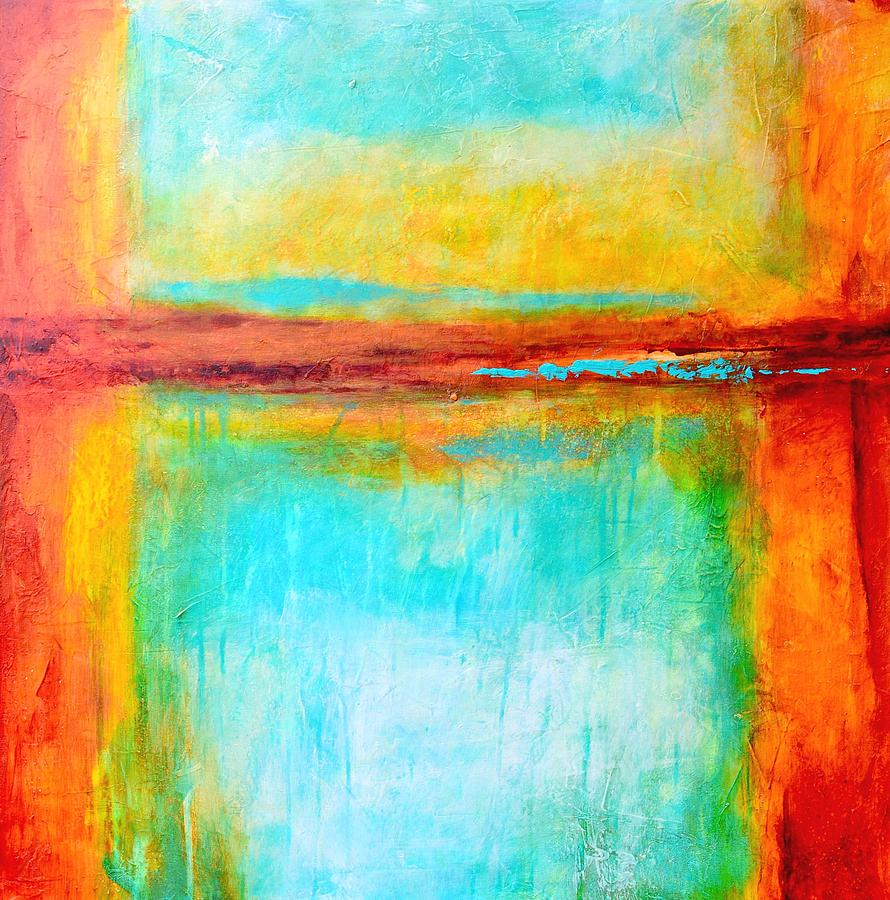 Abstract Painting - Key West Memories by Filomena Booth