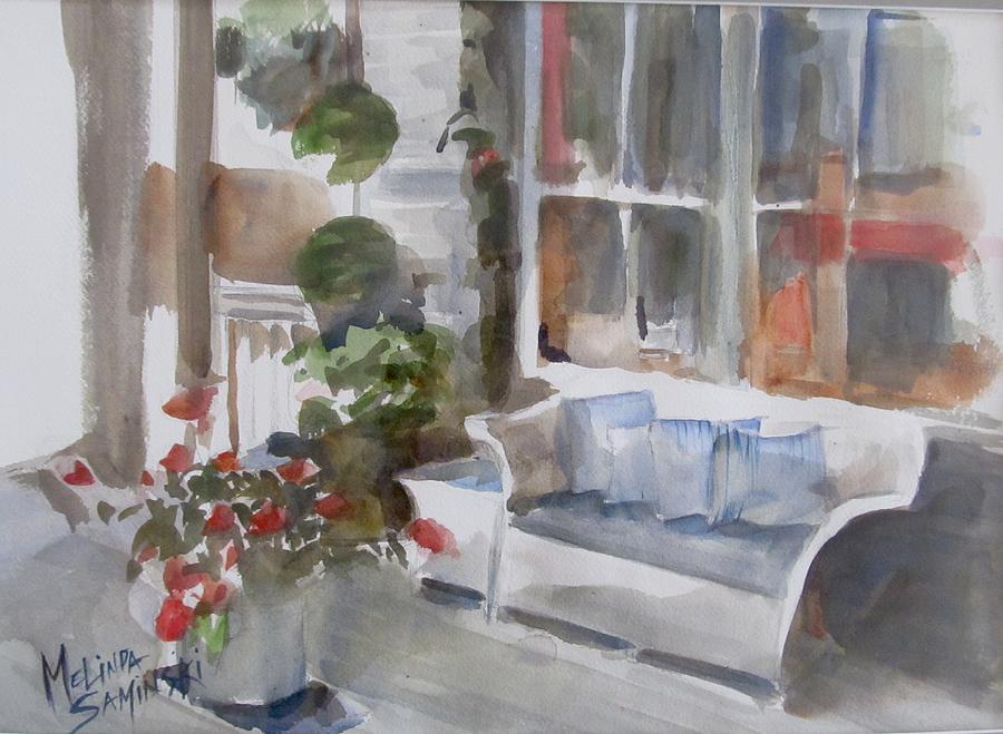 Key West Painting - Key West Porch by Melinda Saminski