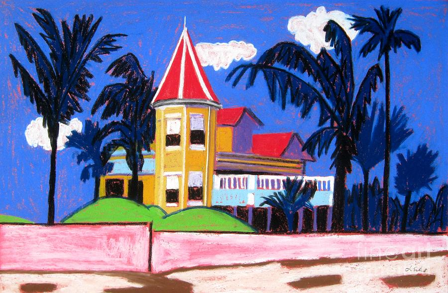 Key West Painting - Key West Southern House by Lesley Giles