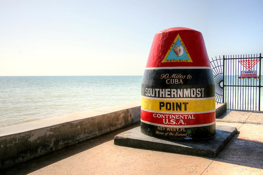 Key West Photograph - Key West Southernmost Point by Ken Reardon