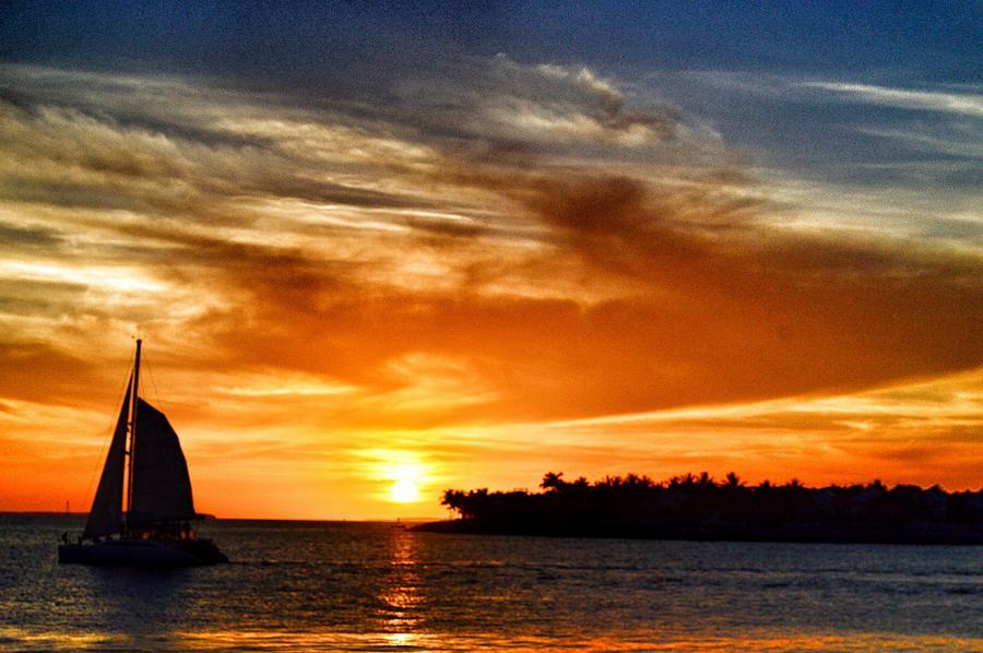 Key West Photograph - Key West Sunset by Srinivasan Venkatarajan