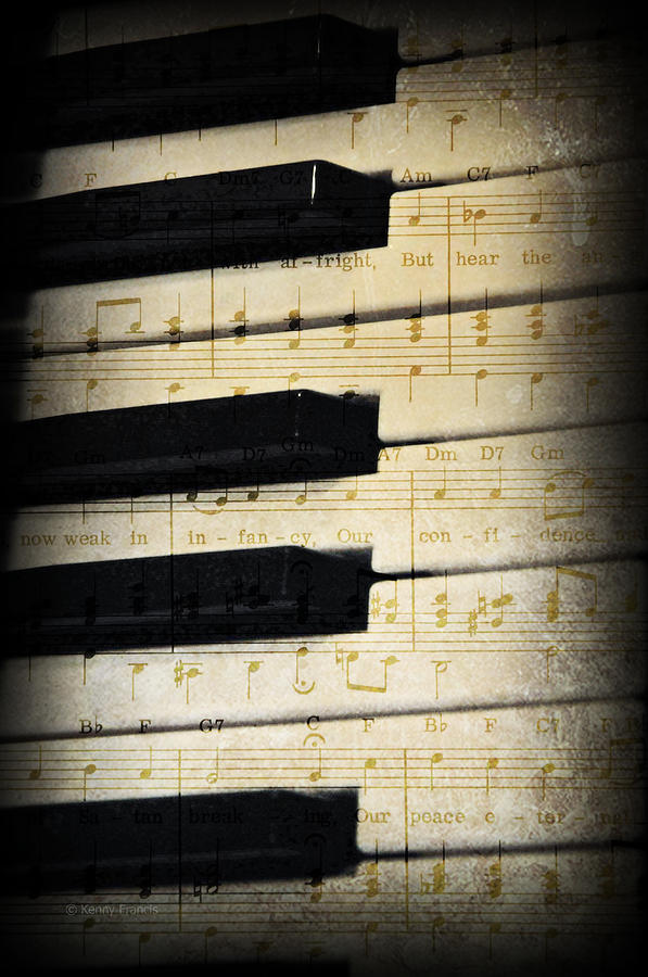 Kenny Francis Photograph - Keyboard Music by Kenny Francis