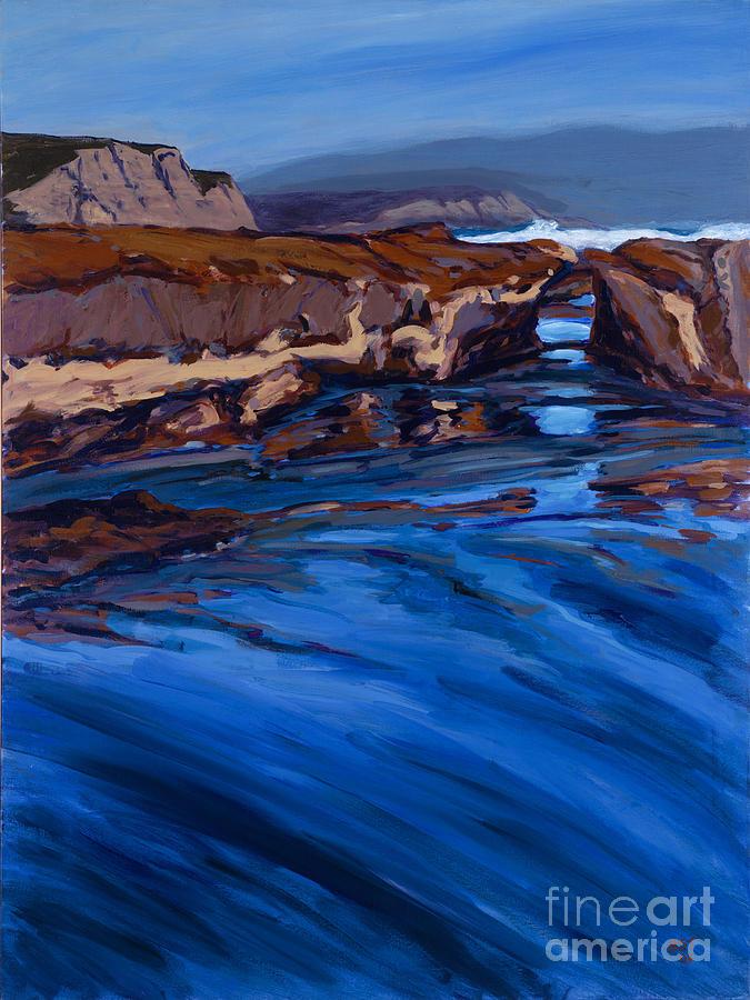 Seascape Painting - Keyhole Reflection - Drakes Bay by Betsee  Talavera