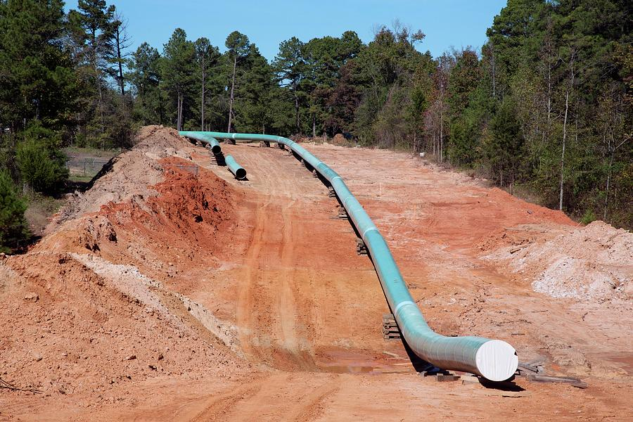 Pipe Photograph - Keystone Xl Pipeline Construction by Jim West