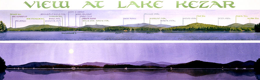 Lake Painting - Kezar Lake View by Mary Helmreich