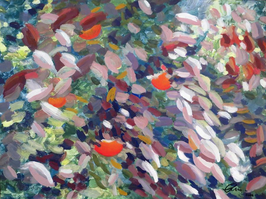 Leaves Painting - Khaki by Livio Lopedote