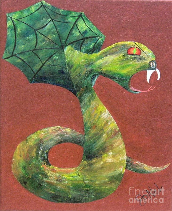 Dark Painting - Khiel...the Snake by JoNeL Art
