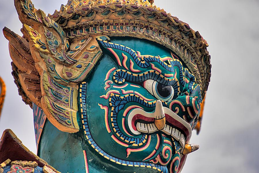 3scape Photograph - Khmer Guard by Adam Romanowicz