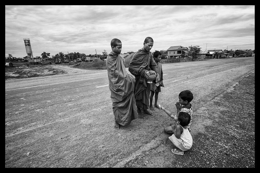 Cambodia Photograph - Khmer Rouge Monks by David Longstreath