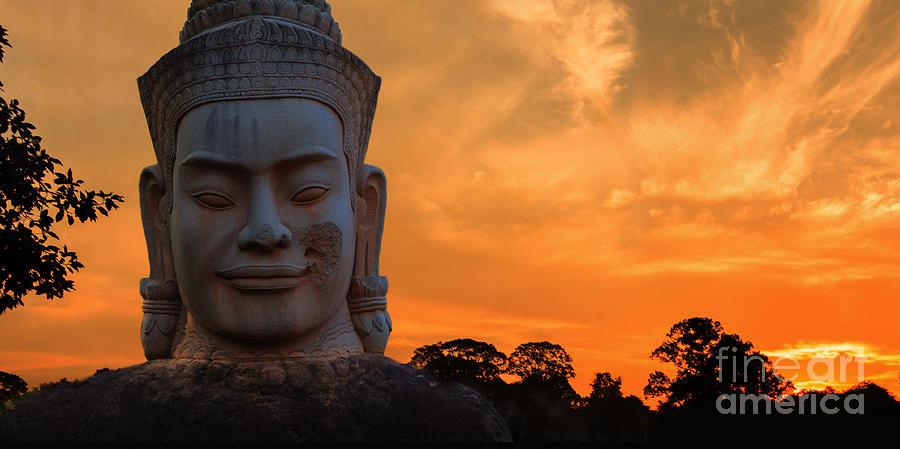Angkor Photograph - Khmer Sunrise by Pete Reynolds