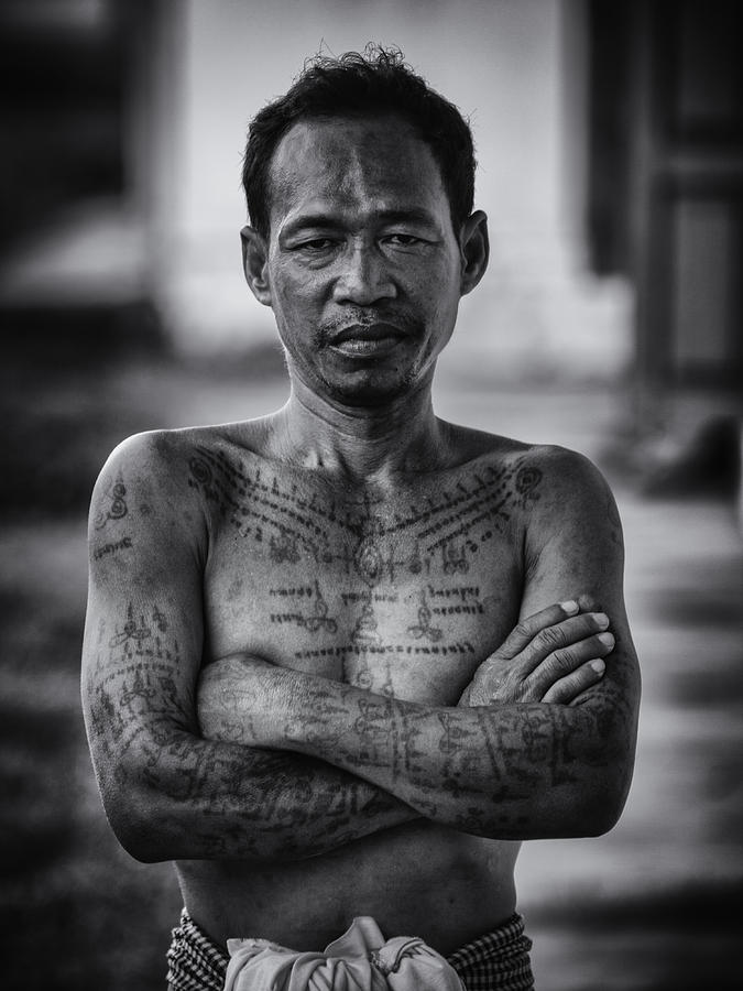 khmer tattoo man photograph by david longstreath. Black Bedroom Furniture Sets. Home Design Ideas