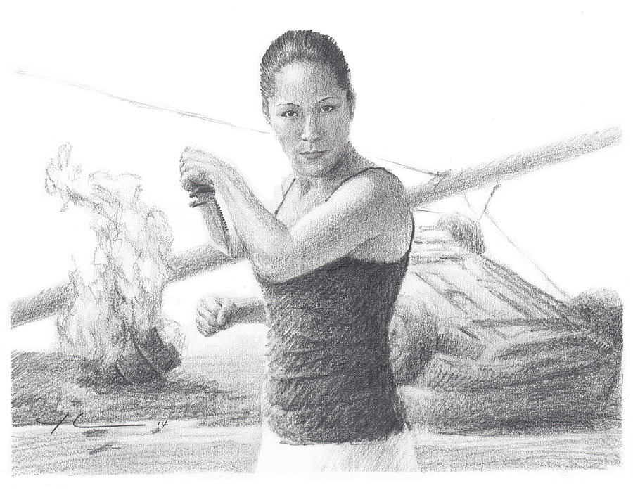 Kick Butt Instructor Pencil Portrait Painting by Mike Theuer