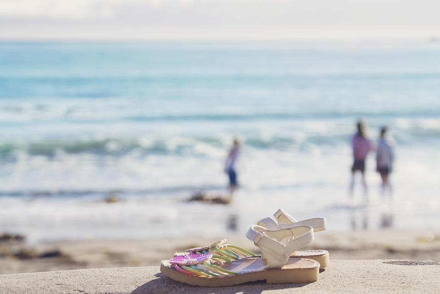 Beach Photograph - Kick Off Your Shoes... And Play by Cindy Garber Iverson
