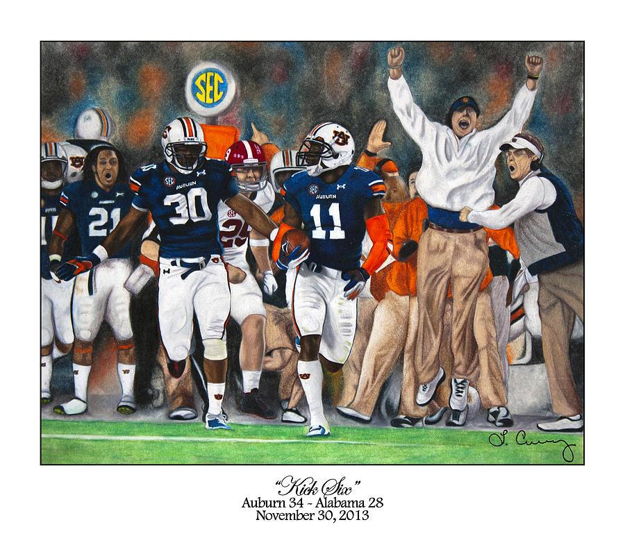 Auburn Painting - Kick Six by Lance Curry
