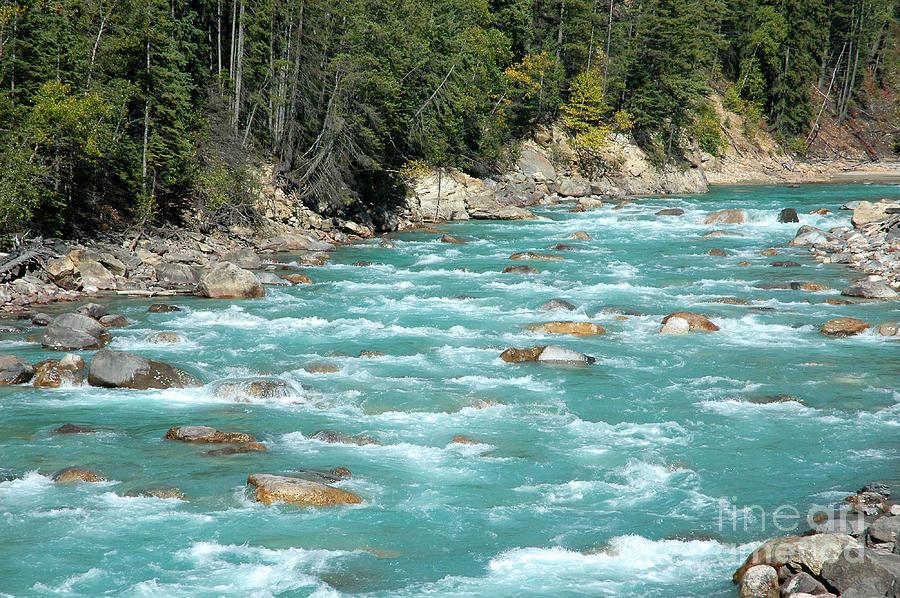 River Photograph - Kicking Horse River by Bob and Nancy Kendrick