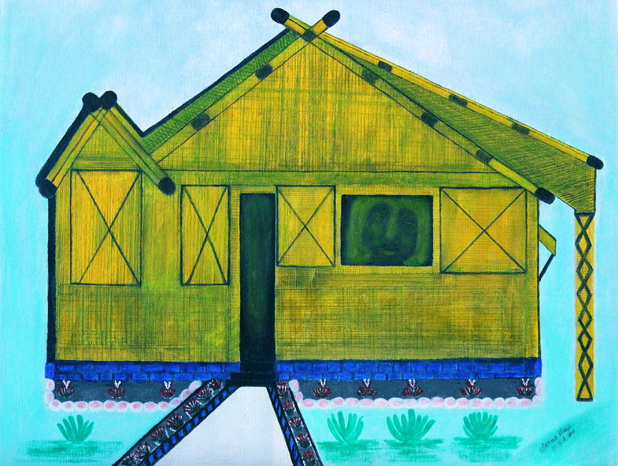 Landscape Painting - Kiddie House by Lorna Maza