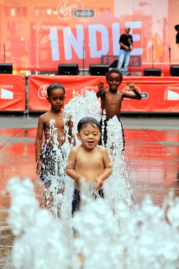 Kids Photograph - Kids Summer Fun by Valentino Visentini