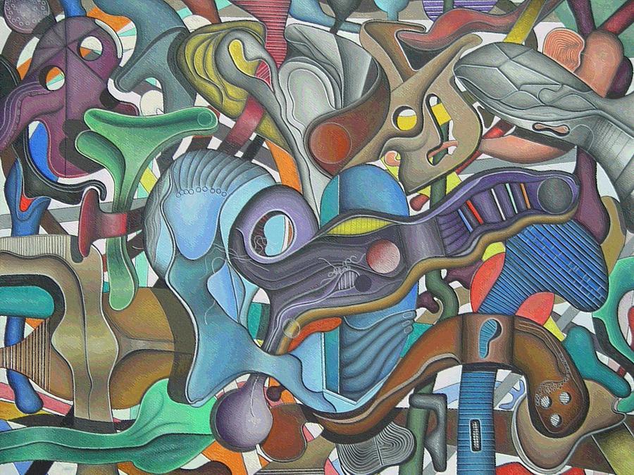 Abstract Pastel - Kieko Alteration #3 by George Curington