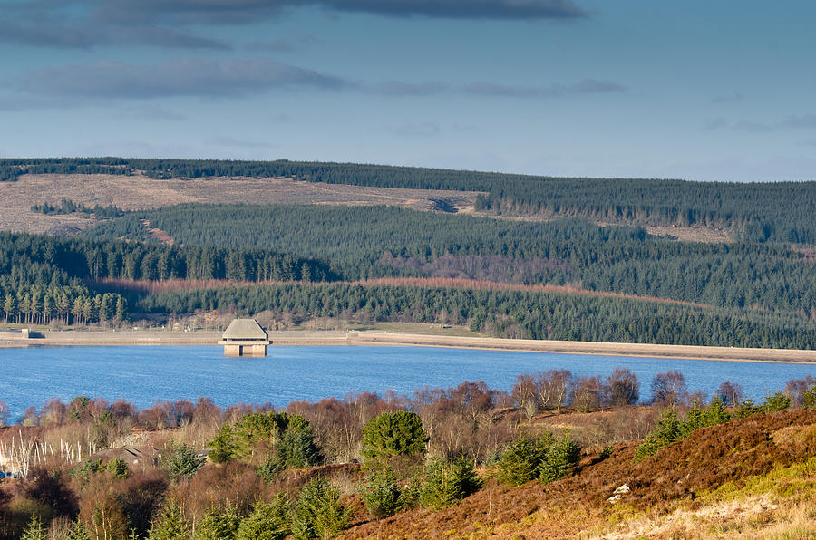 Northumberland Photograph - Kielder Dam And Valve Tower by David Head