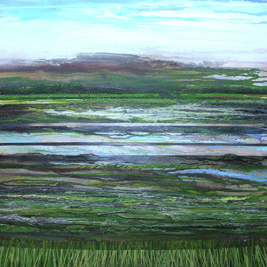 Water Landscape Mixed Media - Kielderwater Rhythms And Reflections by Mike   Bell