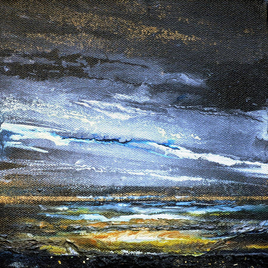Landscape Mixed Media - Kielderwater Storms by Mike   Bell