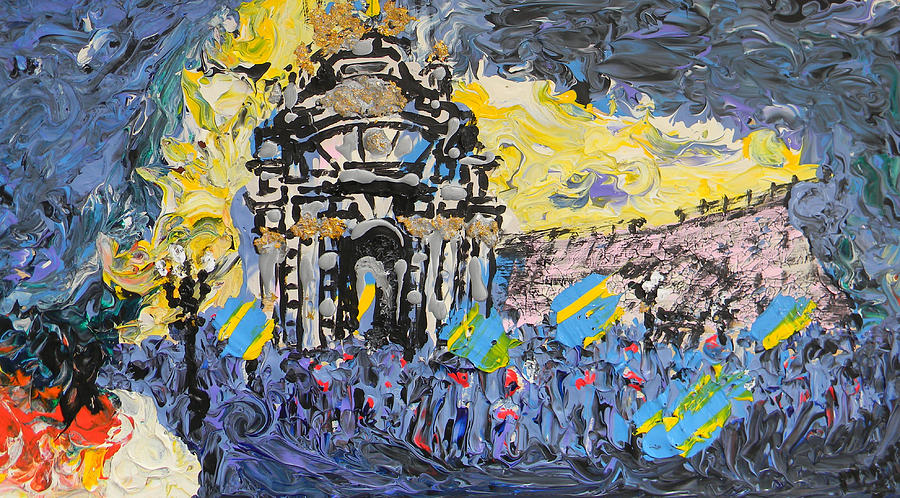 Kiev Painting - Kiev Burning by Marwan George Khoury