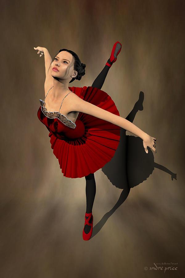 Prima Ballerina Digital Art - Kiko - Ballerina Portrait by Alfred Price