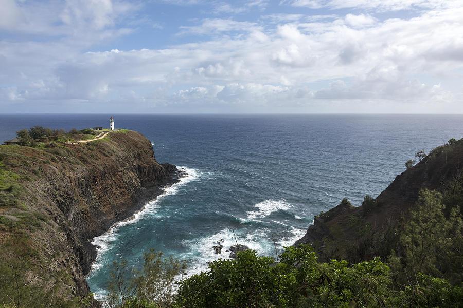 Kilauea Lighthouse Light House Seascape Kauai Hawaii Photograph - Kilauea Lighthouse - Kauai Hawaii by Brian Harig