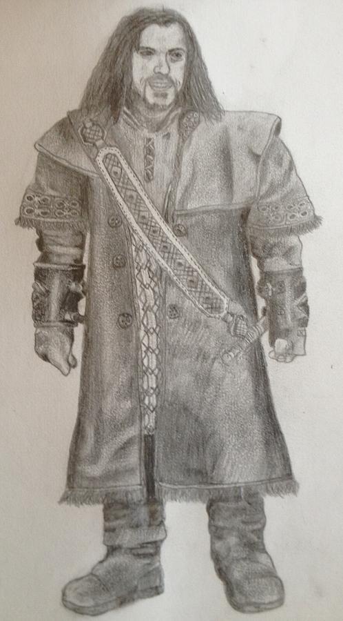 Pencil Drawing - Kili From The Hobbit by Noah Burdett
