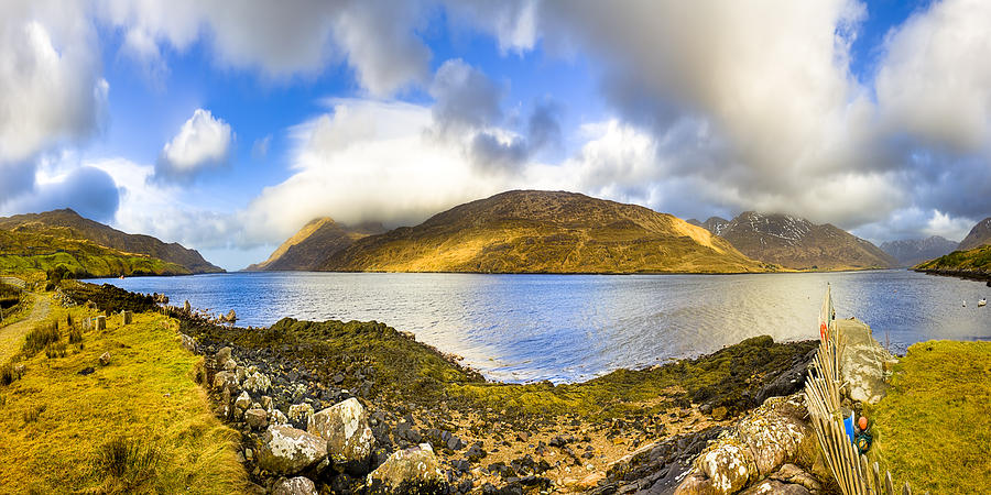Galway Photograph - Killary Fjord - Irish Panorama by Mark E Tisdale