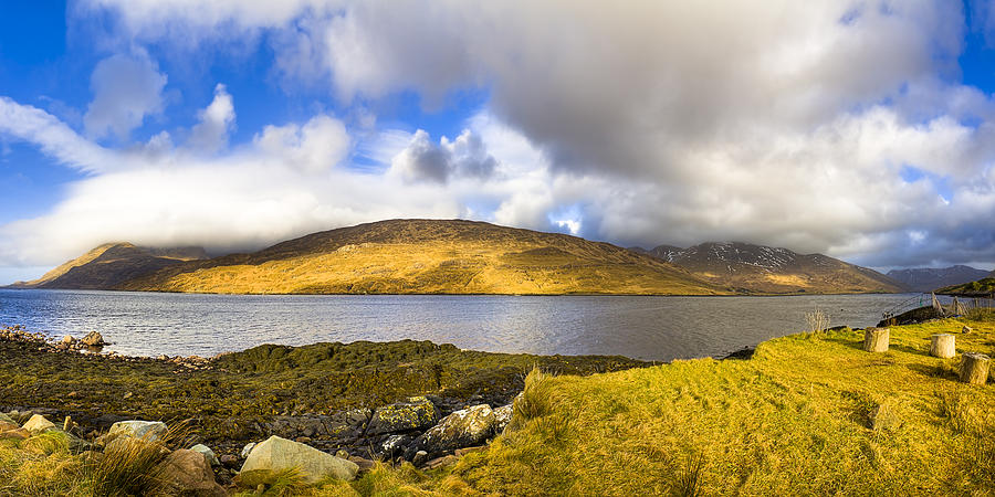 Galway Photograph - Killary Harbour On The Irish West Coast by Mark E Tisdale