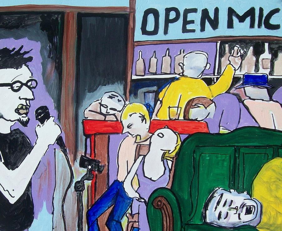 Comedy Painting - Killing - Open Mic by James Christiansen