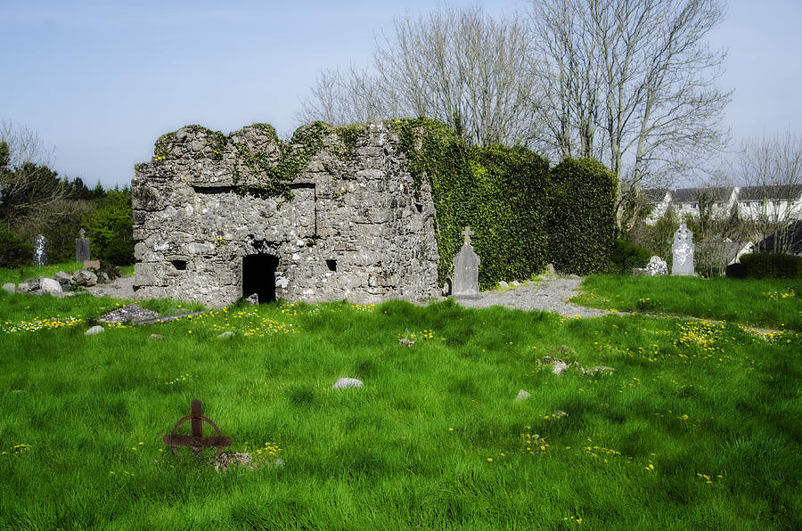 Kilmore Photograph - Kilmore Church Ruins - Founded By St Patrick - Ballina Co Mayo by Bill Cannon