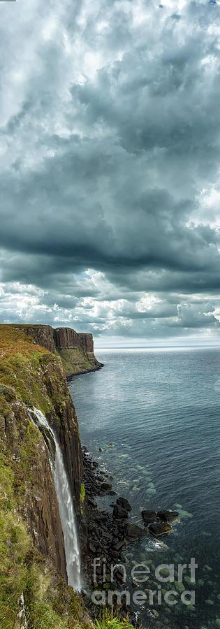Landscape Photograph - Kilt Rock And Falls by Matt  Trimble