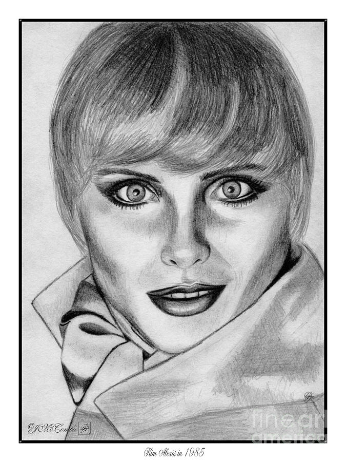 Kim Alexis Drawing - Kim Alexis In 1985 by J McCombie