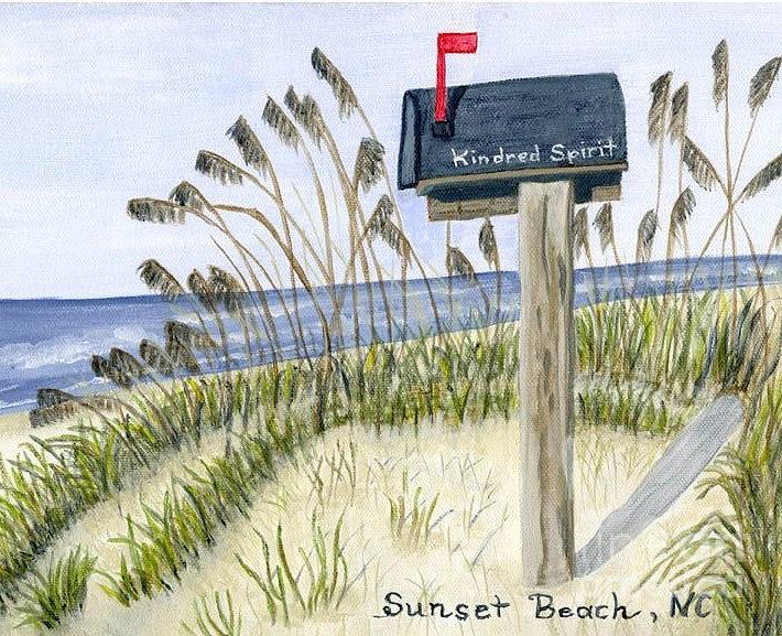 Beach Painting - Kindred Spirit by Gloria Patrick Sumter