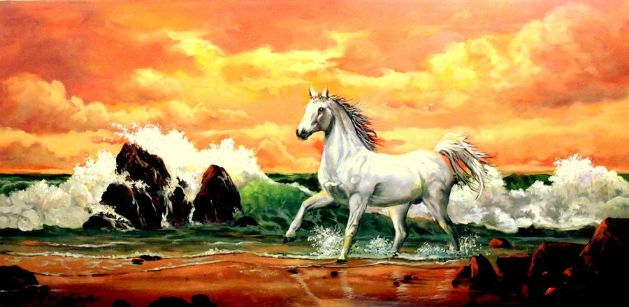 Horse Painting - Kindred Spirit by W  Scott Fenton