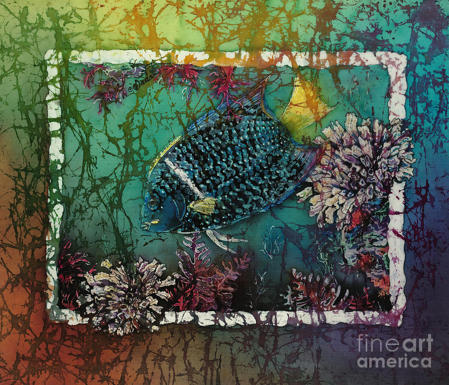 King Angelfish Painting - King Angelfish by Sue Duda