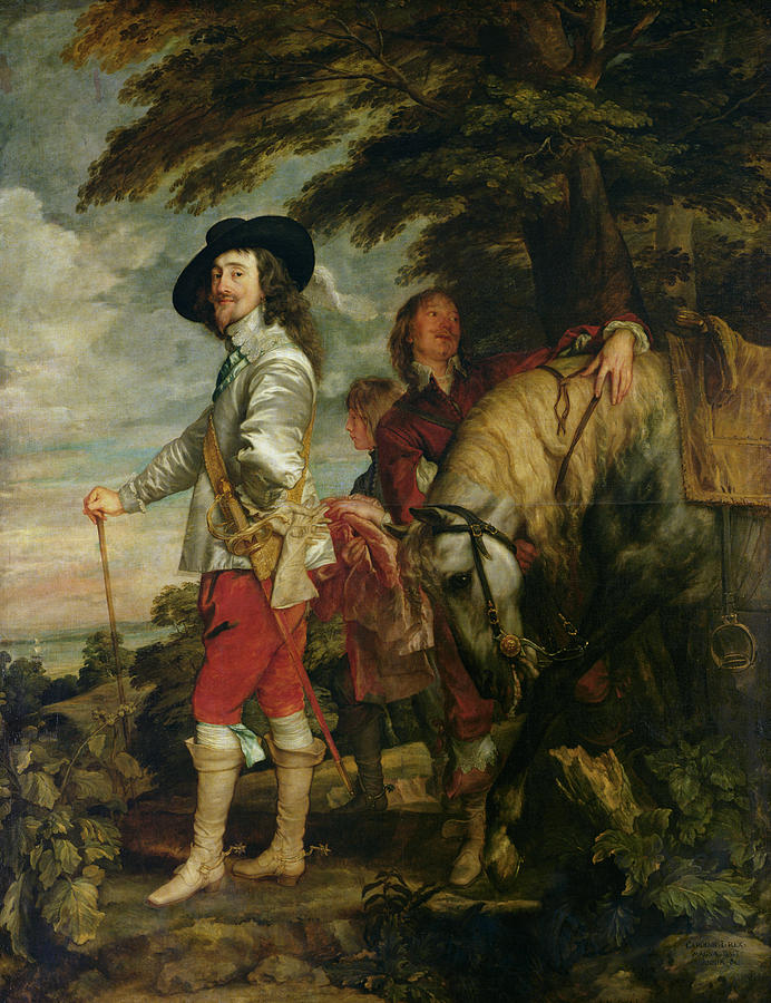 Portrait Photograph - King Charles I 1600-49 Of England Out Hunting, C.1635 Oil On Canvas by Sir Anthony van Dyck