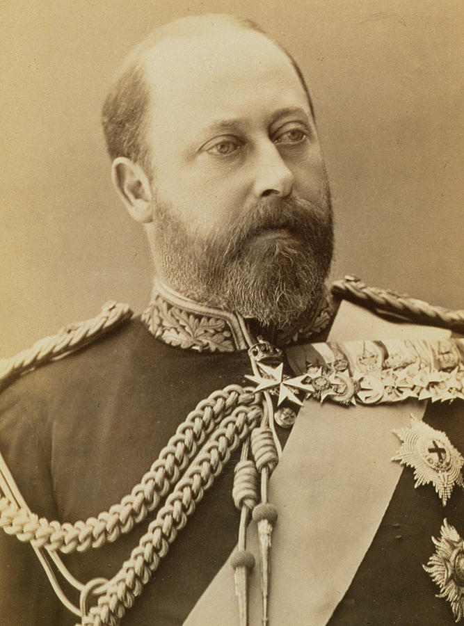 Photo Photograph - King Edward Vii  by Stanislaus Walery