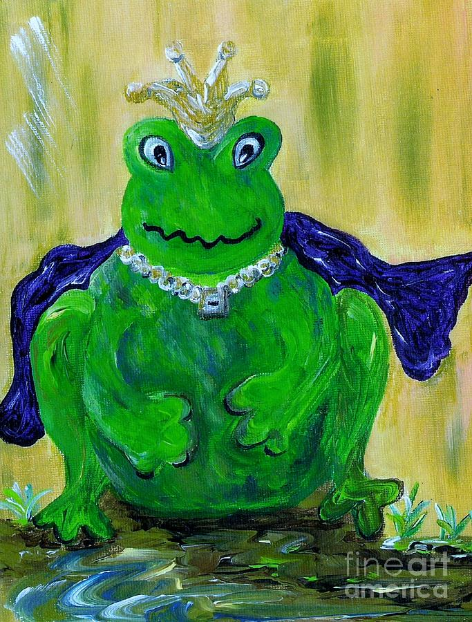 Frog Painting - King For A Day by Eloise Schneider