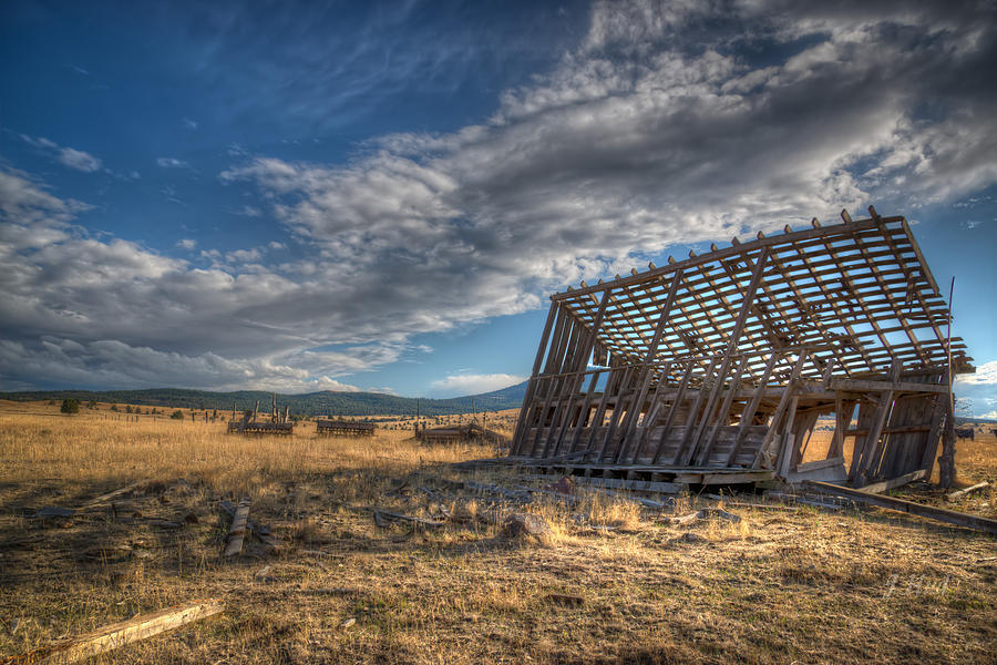 Landscape Photograph - King Homestead Barn by Joe Hudspeth
