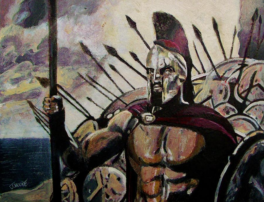 King Leonidas Painting by Jeremy Moore
