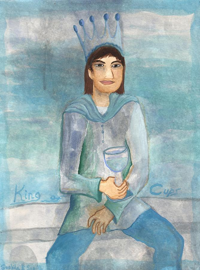 Tarot Painting - King Of Cups by Sushila Burgess