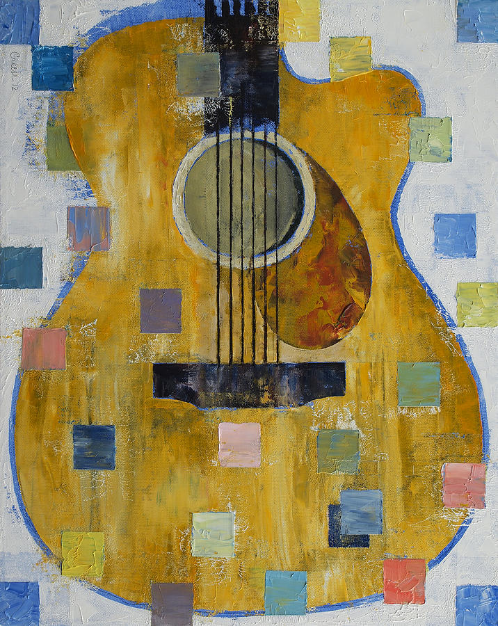 King Painting - King Of Guitars by Michael Creese