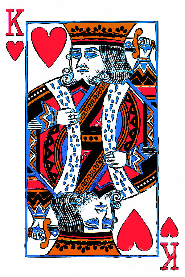 Card Photograph - King Of Hearts 20140301 by Wingsdomain Art and Photography