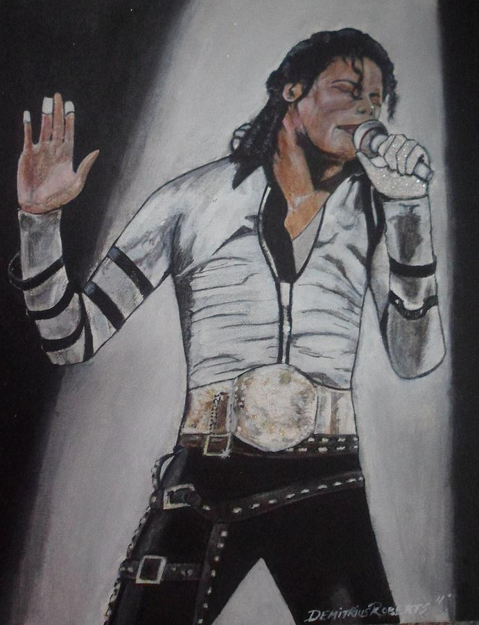 Mj Painting - King Of Pop by Demitrius Roberts